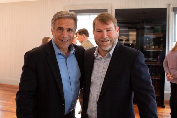 Mayor Bill Saffo and David Ivey