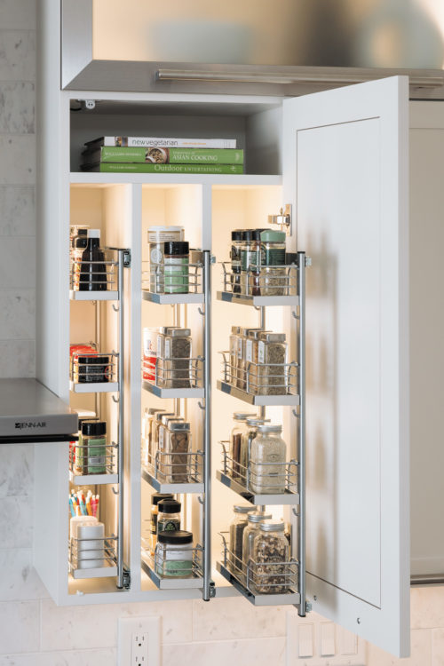 Spice Rack Chrome White Kesseboehmer USA